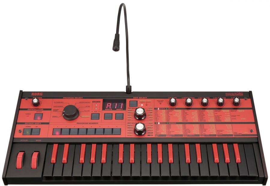 MicroSynthesizer/Vocoder Classic Micro Synthesizer in Black/Red design