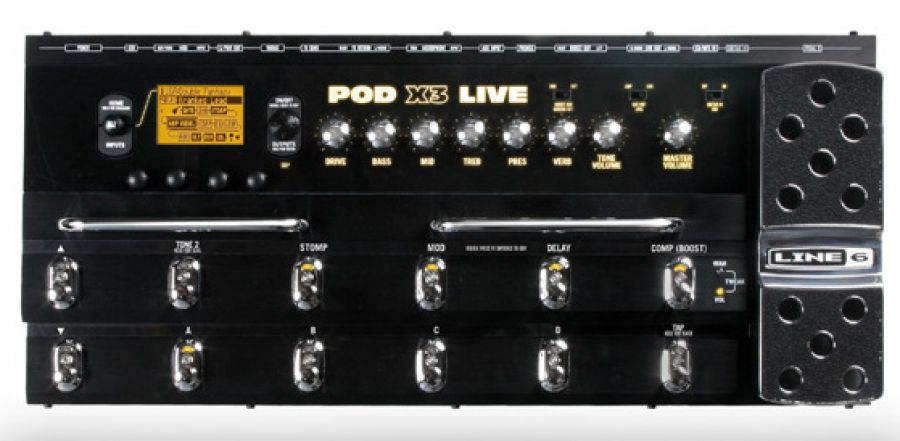 POD X3 Live Guitar/Bass Amp and Multi-Effects Modelling Pedal Board