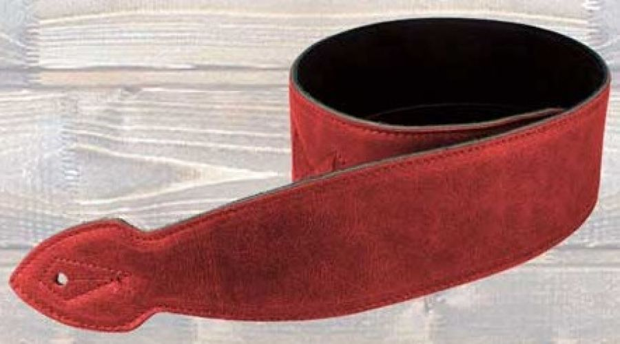 2.5 Softy Leather Guitar Strap – Red