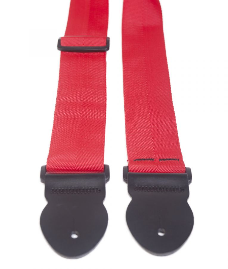 "2"" Red Webbing Guitar Strap"