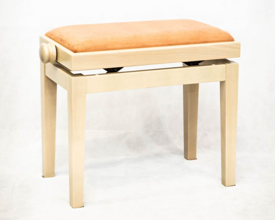 Miraculous 5099F Height Adjustable Piano Stool White Ash Finish With Pink Dralon Seat Top Short Links Chair Design For Home Short Linksinfo