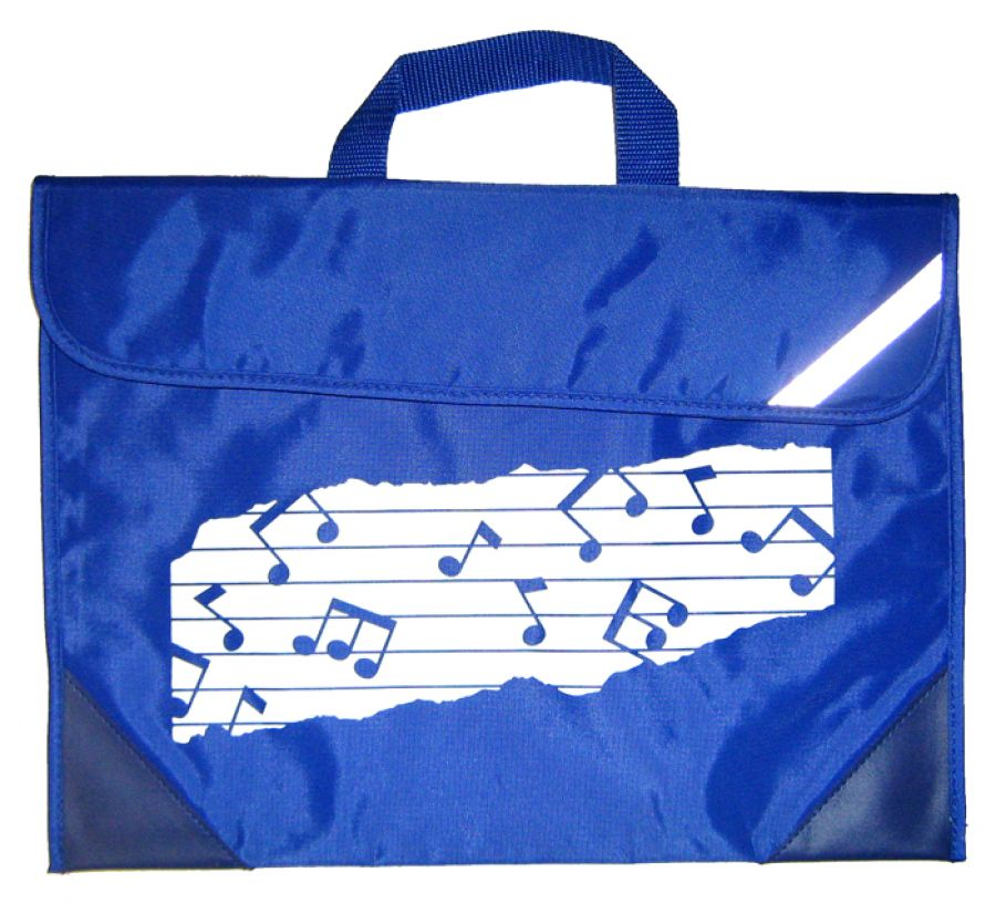 Duo Music Bag with Music Design in Royal Blue