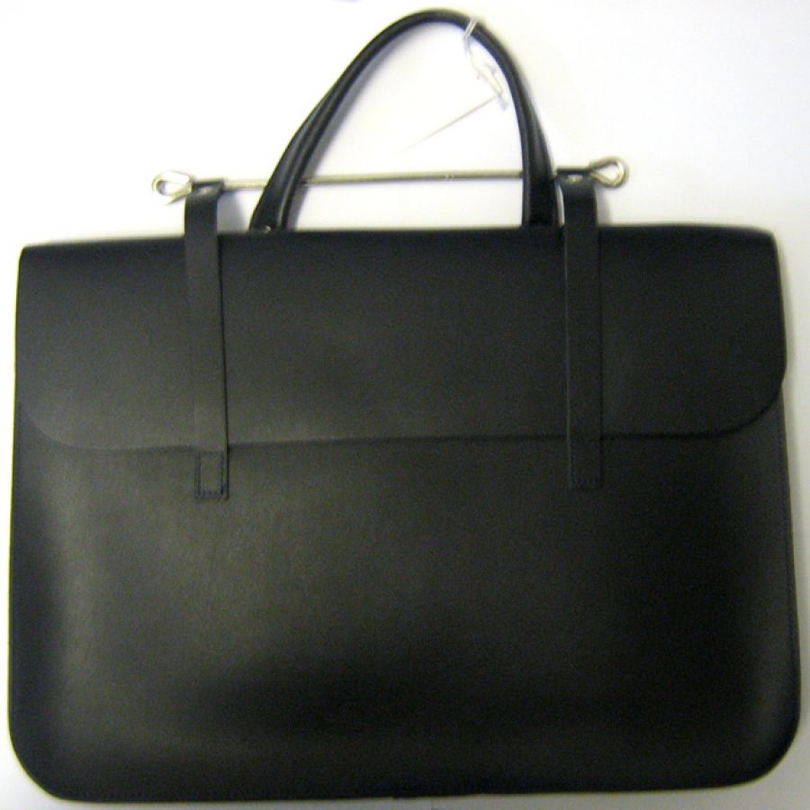 Leather Music Case in Black