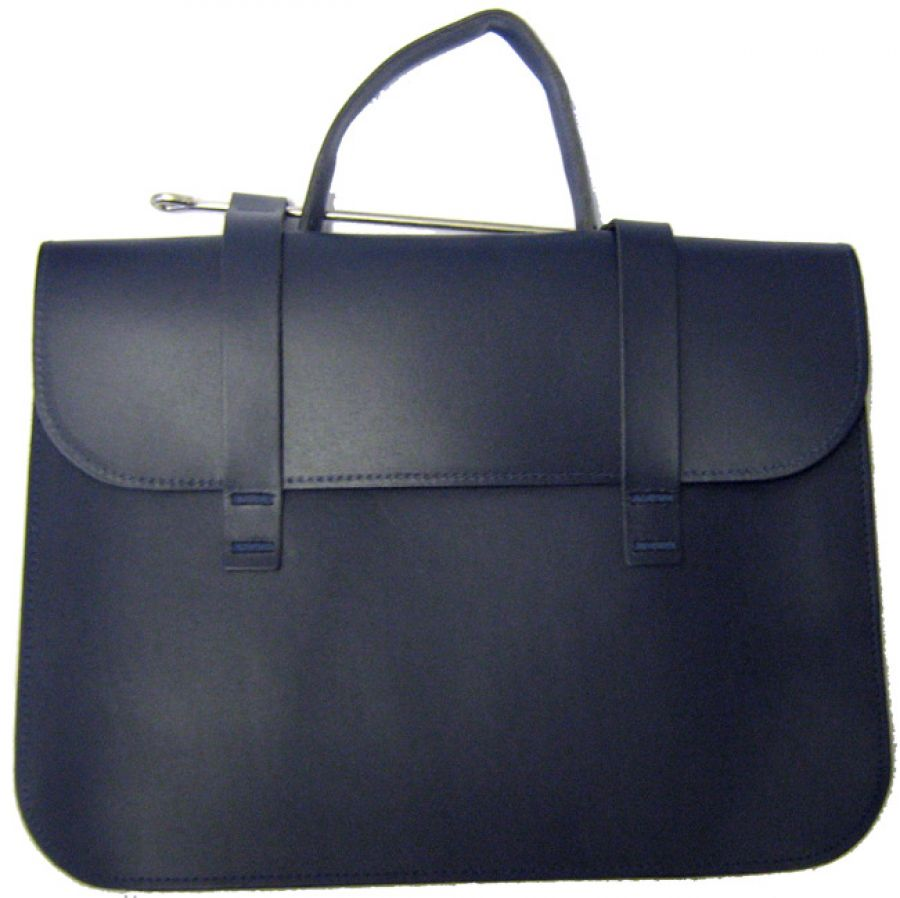Leather Music Case in Navy Blue