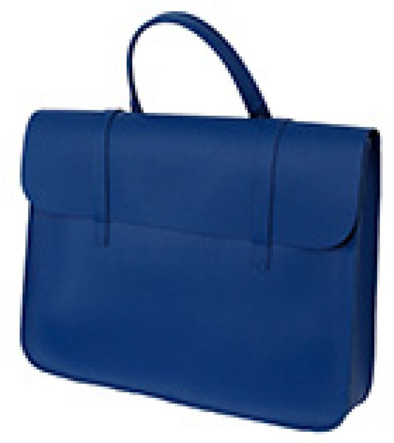 Leather Music Case in Royal Blue