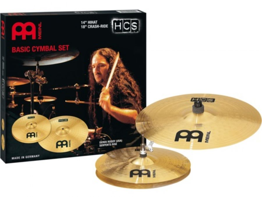 HCS Basic 14/18 Cymbal Set (14 inch Hi-Hat, 18 inch Crash-Ride)
