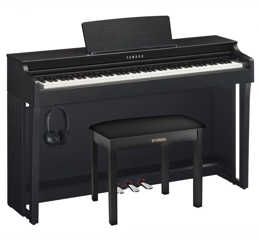 CLP-625 Deluxe Clavinova Piano Pack in Black Walnut Finish