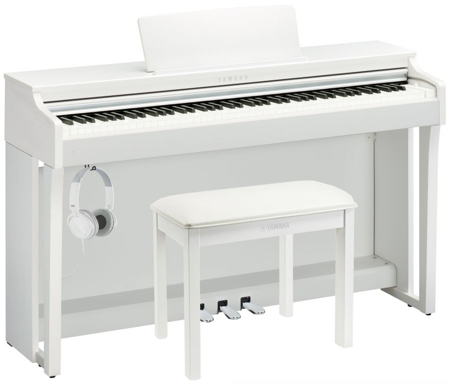 CLP-625 Deluxe Clavinova Piano Pack in White Finish
