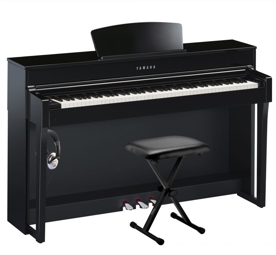 CLP-635 Essential Clavinova Piano Pack in Polished Ebony Finish