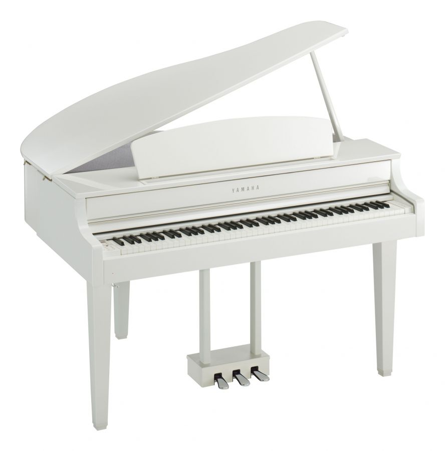 yamaha clp 665gp clavinova digital grand piano in polished white finish yamaha music london. Black Bedroom Furniture Sets. Home Design Ideas