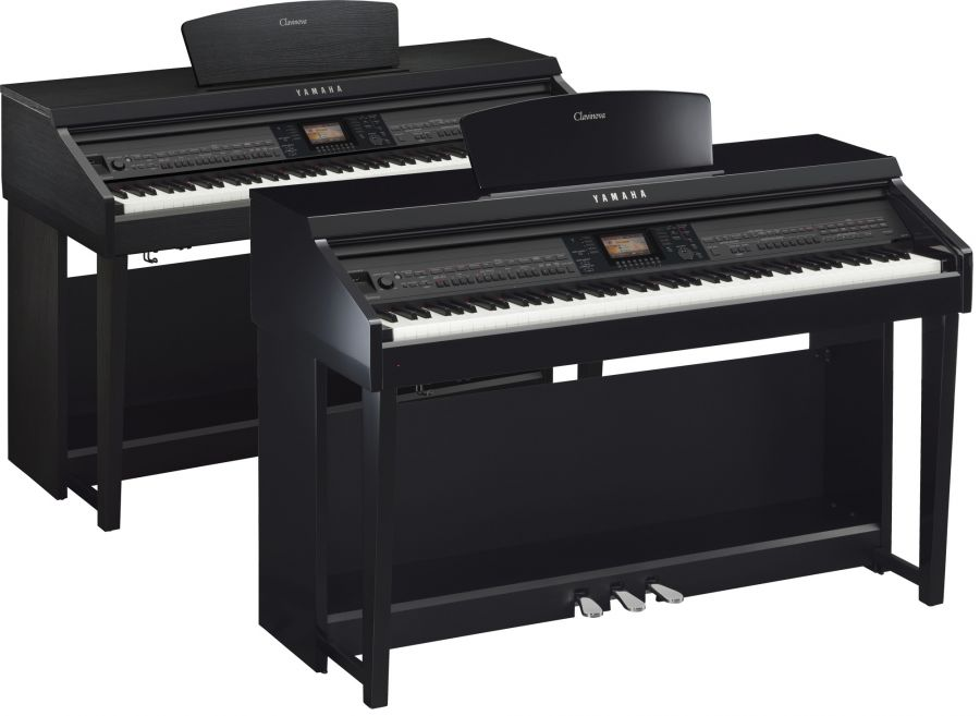 yamaha cvp 701 clavinova digital pianos in polished ebony