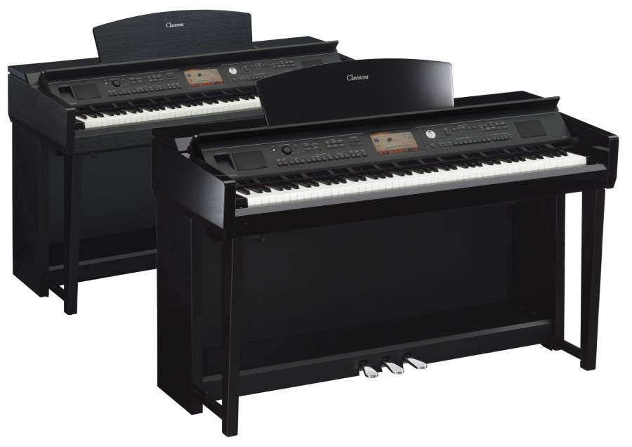 yamaha cvp 705 clavinova digital pianos in polished ebony. Black Bedroom Furniture Sets. Home Design Ideas