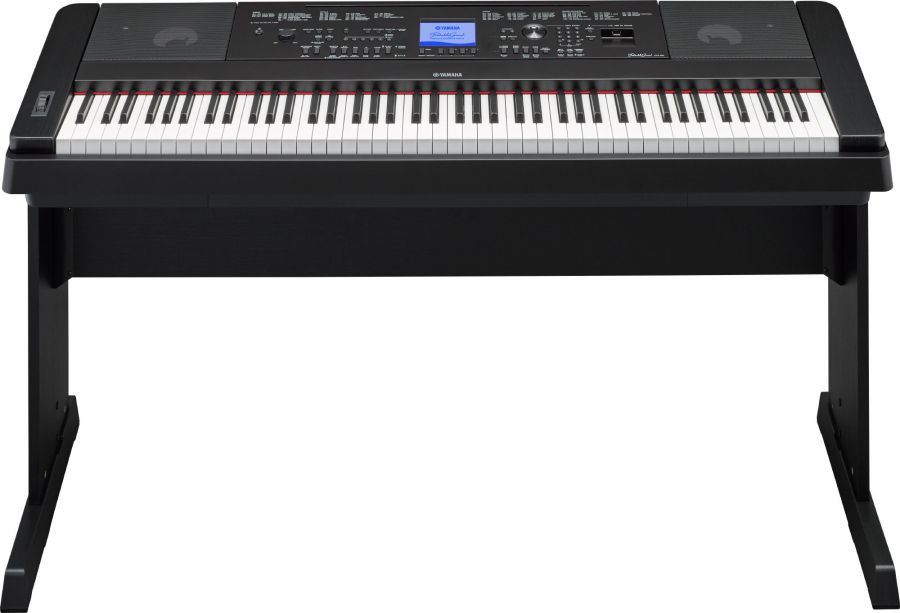yamaha dgx 660 digital piano in black finish with stand. Black Bedroom Furniture Sets. Home Design Ideas