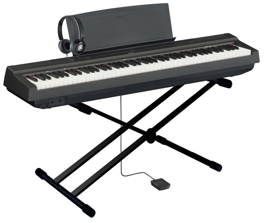 yamaha p 125 digital piano easy store pack in black finish yamaha music london. Black Bedroom Furniture Sets. Home Design Ideas