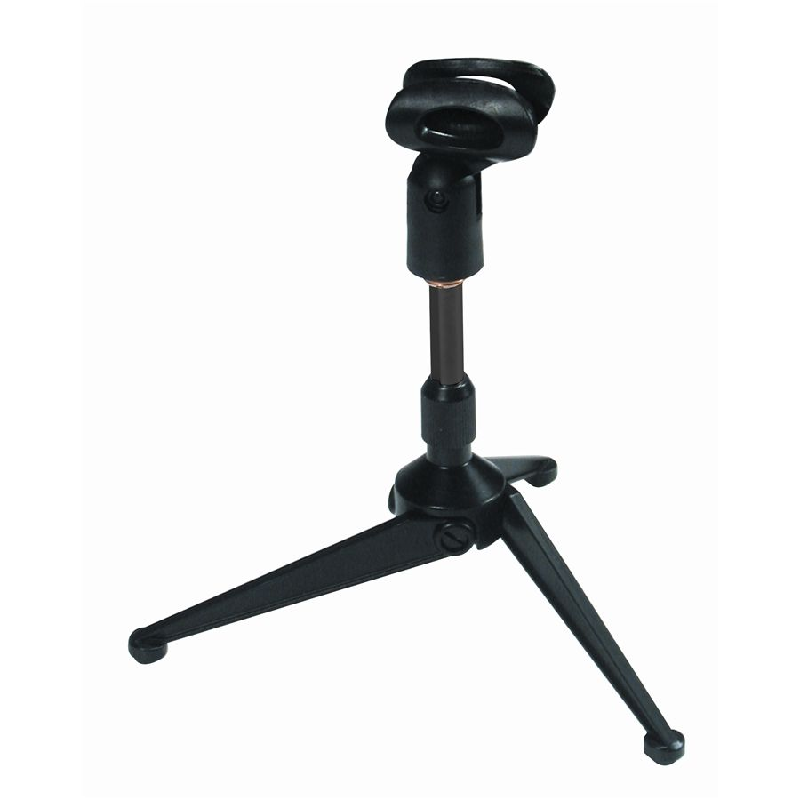A188 Desk tripod microphone stand with rubber mic holder