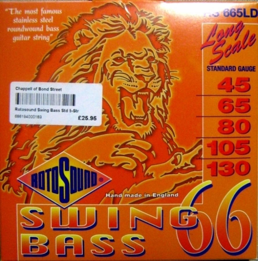 Swing Bass 66 Stainless Steel 5-String Bass Guitar Strings