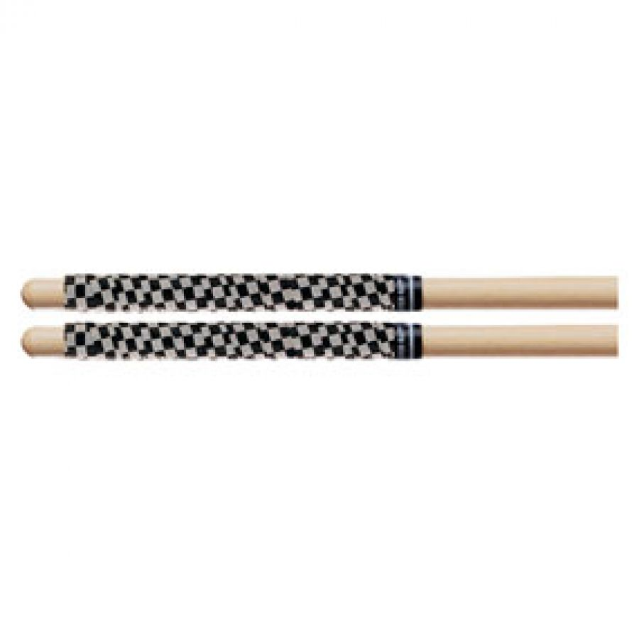 SRCW Drum Stick Wrap / Tape Checkerboard White