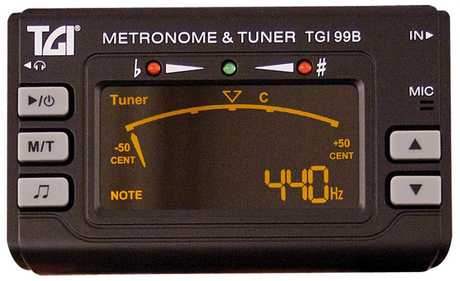 TGI99b Tuner Chromatic Tuner/Metronome with Clip On Mic