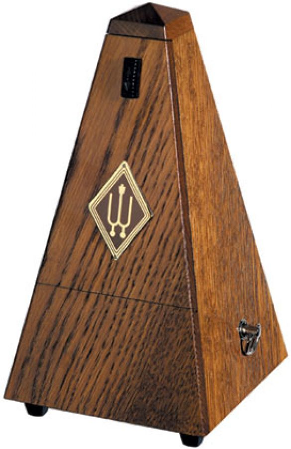 818 Metronome with Bell in Oak
