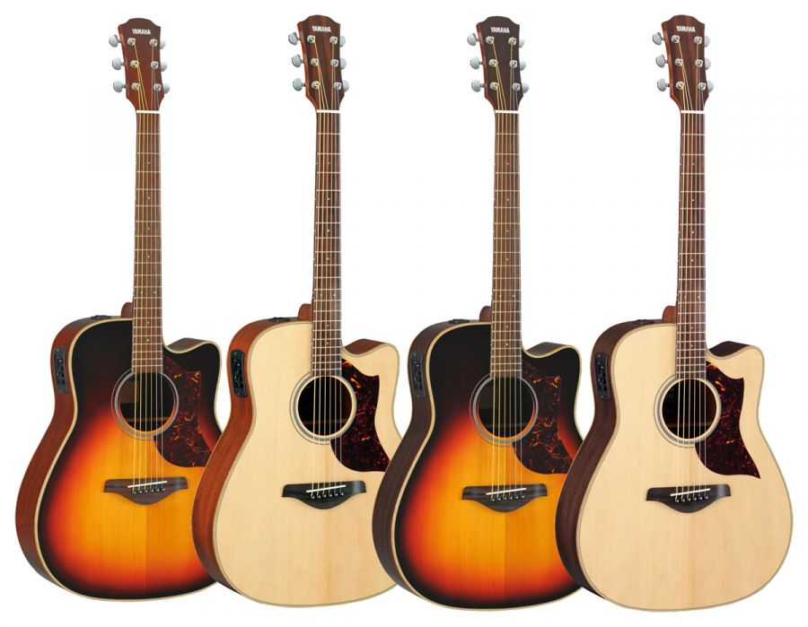 yamaha a1m a1r electro acoustic dreadnought guitars with mahogany or rosewood back sides and. Black Bedroom Furniture Sets. Home Design Ideas