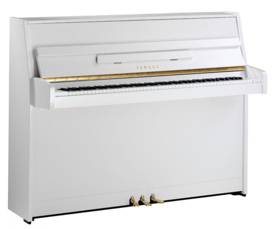 Yamaha b1 upright piano in polished white finish yamaha for Yamaha b1 piano price