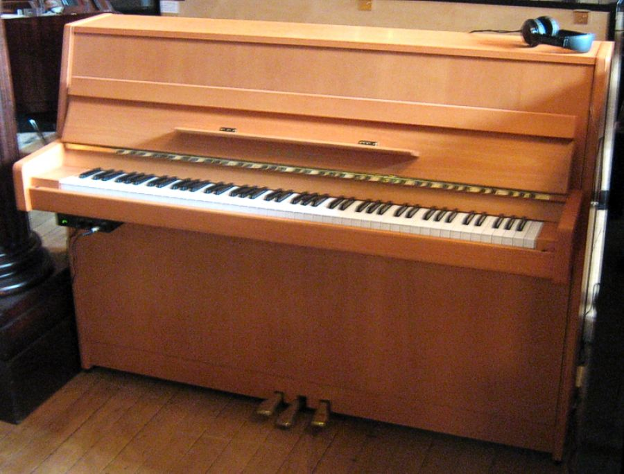 Yamaha b1 silent upright piano in natural beech satin for Yamaha b1 piano price