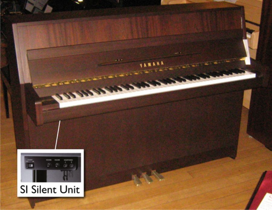 Yamaha b1 silent upright piano in dark walnut satin for Yamaha b1 piano price