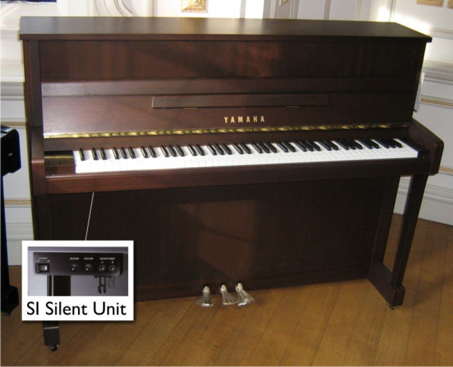 yamaha b2 silent upright piano in dark walnut satin. Black Bedroom Furniture Sets. Home Design Ideas