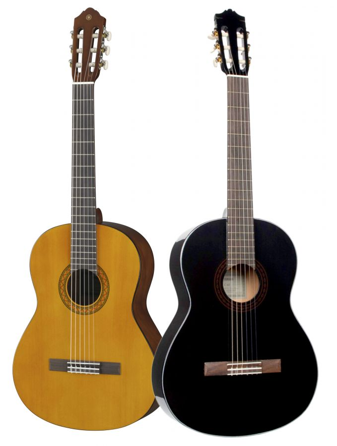 yamaha c40 ii classical guitar in natural or black finish. Black Bedroom Furniture Sets. Home Design Ideas