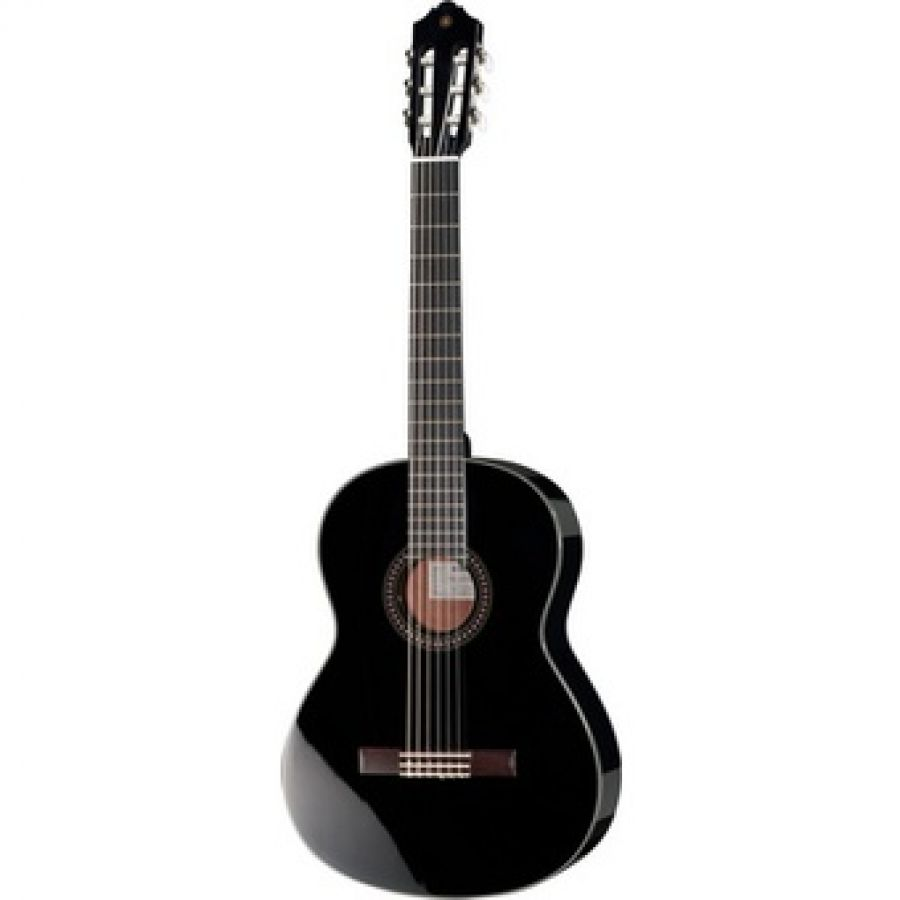 CG142S Solid Spruce Top Classical Guitar in Black finish