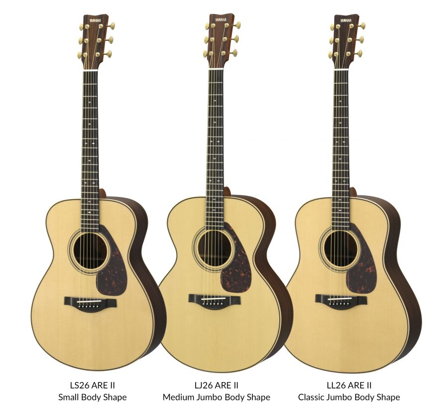 LS26, LJ26 and LL26 ARE II Acoustic Guitars