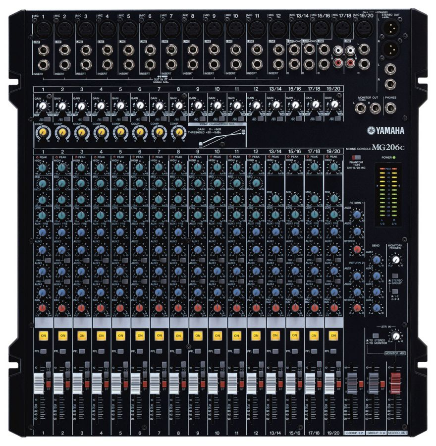 MG206C 20 Channel Analogue Mixer