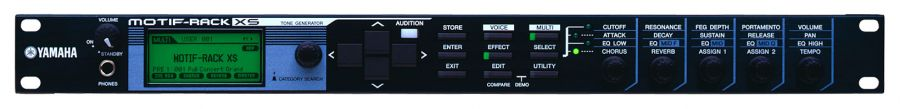 Motif-Rack XS Synthesizer - Rack-mountable tone-generator