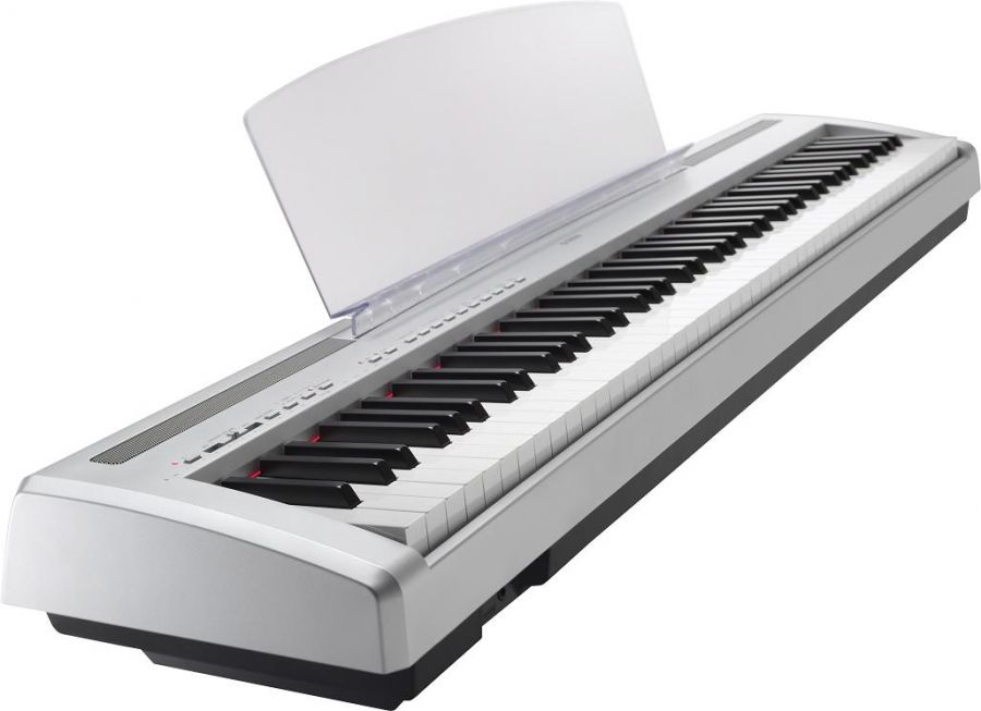 yamaha p95 weighted digital piano in silver finish. Black Bedroom Furniture Sets. Home Design Ideas