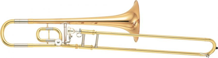 YSL-350C Bb/C 'Compact' Tenor Trombone Student model in Gold lacquer finish  - Dual bore with Ascending C Valve  Includes Case