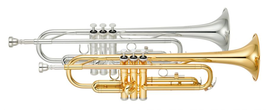 yamaha ytr 2330 bb trumpet in gold lacquer or silver. Black Bedroom Furniture Sets. Home Design Ideas