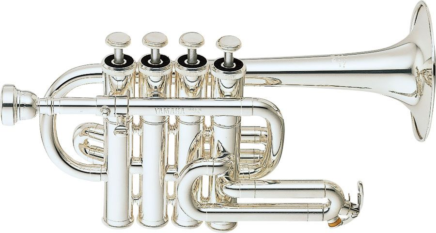 YTR-6810S 4-Valve Bb/A Piccolo Trumpet Professional model in Silver-plated  finish - Small bore, with case
