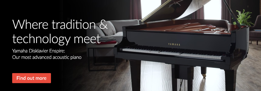Where tradition & technology meet - Yamaha Disklavier Enspire: Our most advanced acoustic piano
