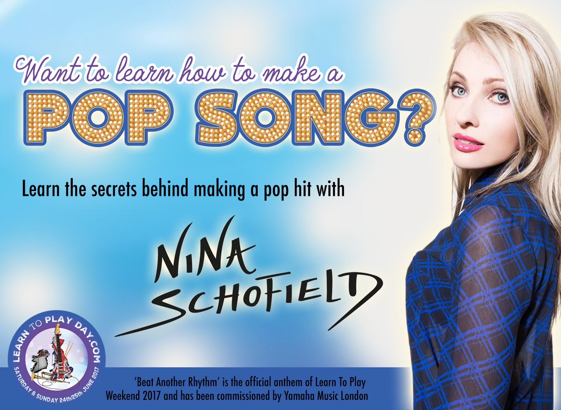 Want to learn how to make a pop song? Win a chance to be on Nina Schofield's Music Workshop