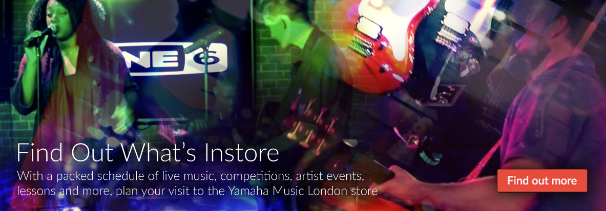 With a packed schedule of live music, competitions, artist events, lessons and more, plan your visit to the Yamaha Music London store