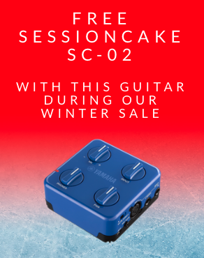 Free SessionCake SC-02 with selected guitars - Click here