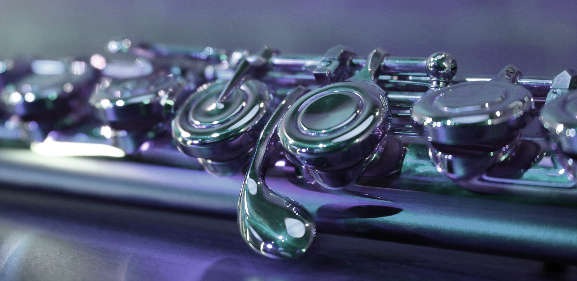 Close-up of a Yamaha Student Flute