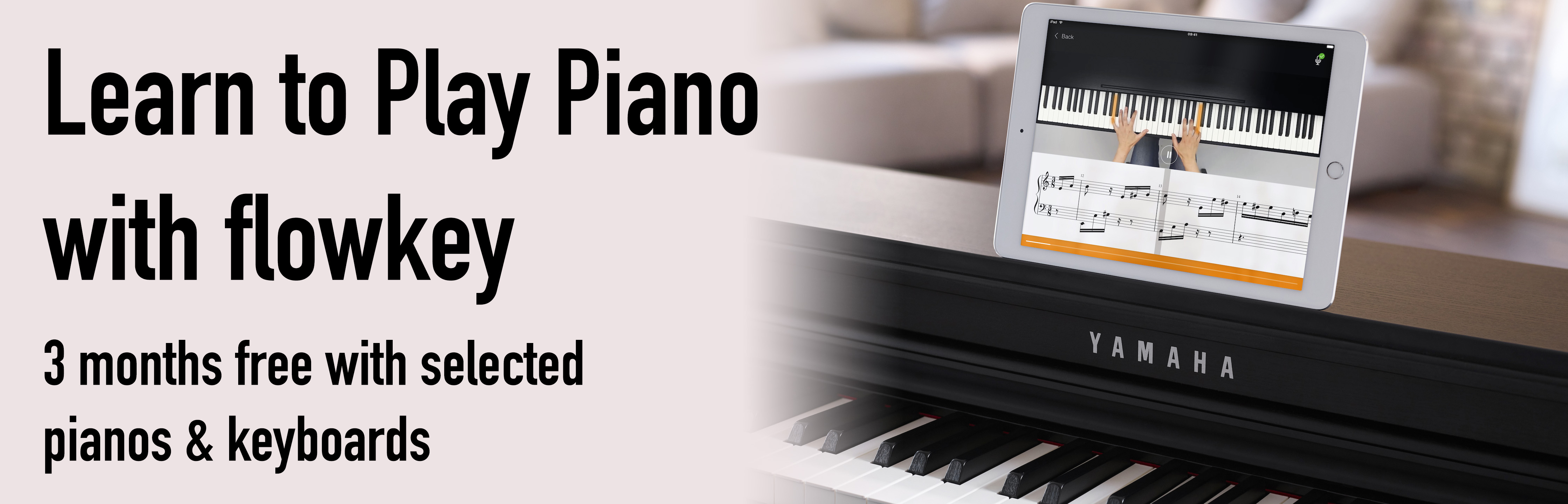 Learn to Play Piano with flowkey - 3 months free with selected pianos and keyboards