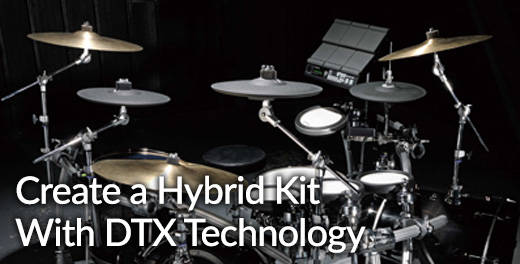 Create a hybrid drum kit with DTX technology