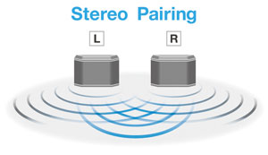 Stereo Pairing with two WX-030 Speakers