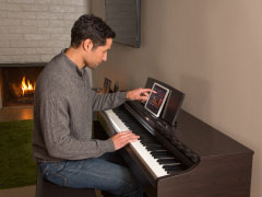 Piano with iPad