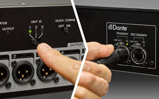 Quickly configure up to 3 Tio1608-D units with a single TF Series mixer