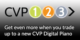 CVP123 Programme - Get even more when you trade up to a CVP Digital Piano - Click here...