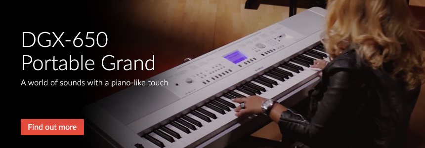 DGX650 Portable Grand - A world of sounds with a piano-like touch