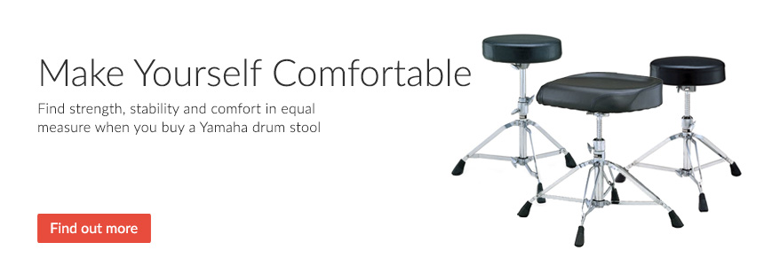 Make yourself comfortable - find strength, stability and comfort in equal measure when you buy a Yamaha drum stool